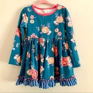 Matilda Jane blue long sleeve pink floral dress 4